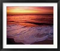 Framed Fiji Islands, Tavarua, Colorful sunset