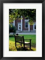 Framed Bench in Sharon, Litchfield Hills, Connecticut