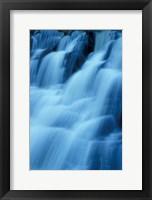 Framed Kent Falls in Kent Falls State Park, Connecticut
