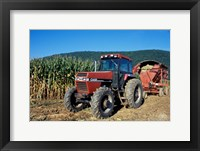 Framed Tractor and Corn Field in Litchfield Hills, Connecticut