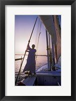 Framed Falucca Sailing Down the Nile River, Egypt