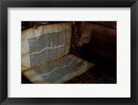 Framed Ethiopia, Blue Nile River Basin, Coptic scripture