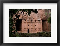 Framed Rock-Hewn Coptic Church, Blue Nile River Basin, Ethiopia