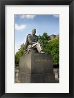 Framed Slovakia, Bratislava, statue of Hviezdoslav