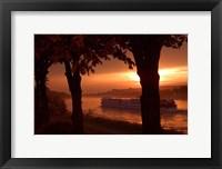 Framed Sunset, Cruise ship, Danube River, Bratislava, Slovakia