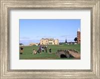 Framed 18th Hole and Fairway at Swilken Bridge Golf, St Andrews Golf Course, St Andrews, Scotland