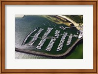 Framed WWI Submarine Wreck and Marina, Port Phillip Bay, Melbourne, Victoria, Australia