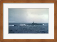 Framed Pacific Ocean, US submarine during WW II