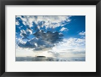 Framed Dramatic clouds at sunset over the Mamanucas Islands, Fiji, South Pacific