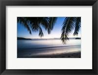 Framed Sunset over the beach, Naviti, Yasawa, Fiji, South Pacific