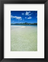 Framed Turquoise water at the Nanuya Lailai island, the blue lagoon, Yasawa, Fiji, South Pacific