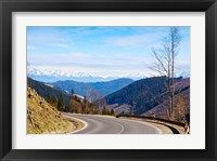 Framed Mountain road in a valley, Tatra Mountains, Slovakia