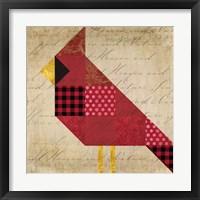 Framed Cardinal Patchwork