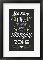 Hangry Zone Framed Print