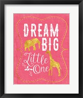 Framed Dream Big - Pink