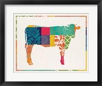 Framed Boho Cow