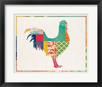 Framed Boho Rooster