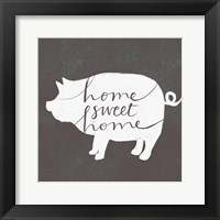 Home Sweet Home Pig Framed Print