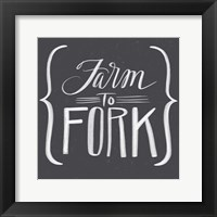 Farm to Fork Framed Print
