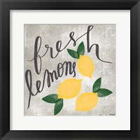 Framed Fresh Lemons