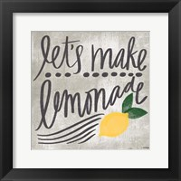 Framed Let's Make Lemonade