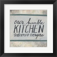 Framed Humble Kitchen