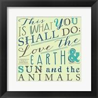 Framed Walt Whitman