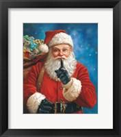Framed Shh Santa