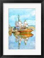 Framed Harbor Tug