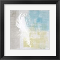 Framed White Feather Abstract I