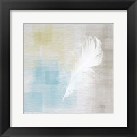 Framed White Feather Abstract II
