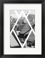 Framed Rothenburg Housetops
