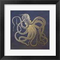 Framed Golden Octopus