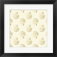 Framed Golden Shell Pattern