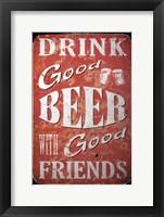 Framed Good Beer