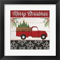Framed Merry Christmas Truck