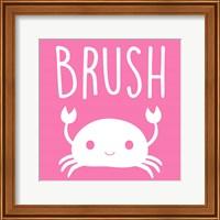 Framed Sea Creatures-Brush