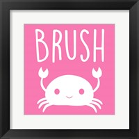 Framed Sea Creatures-Brush