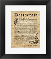 Framed Old English Desiderata