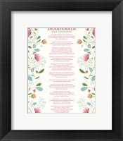 Framed Decorative Desiderata