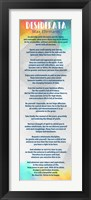 Framed Rainbow Desiderata
