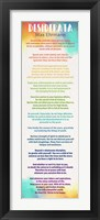 Framed Colorful Desiderata