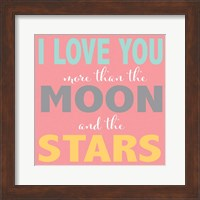 Framed Moon and Stars Girls