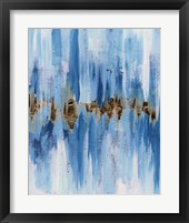 Framed Abstract Blue II