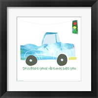 Go Dreams Car Framed Print