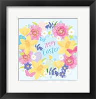 Framed Happy Easter - Flowers