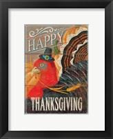 Framed Happy Thanksgiving Turkey