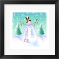 Framed Holiday Snowman