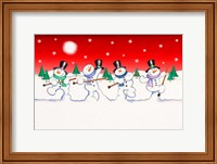 Framed Dancing Snowmen