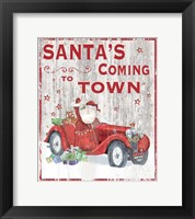 Framed Santa's Coming to Town